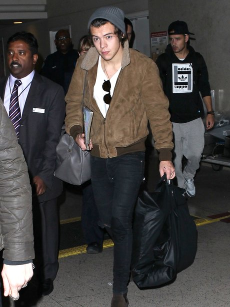 Harry Styles at the airport