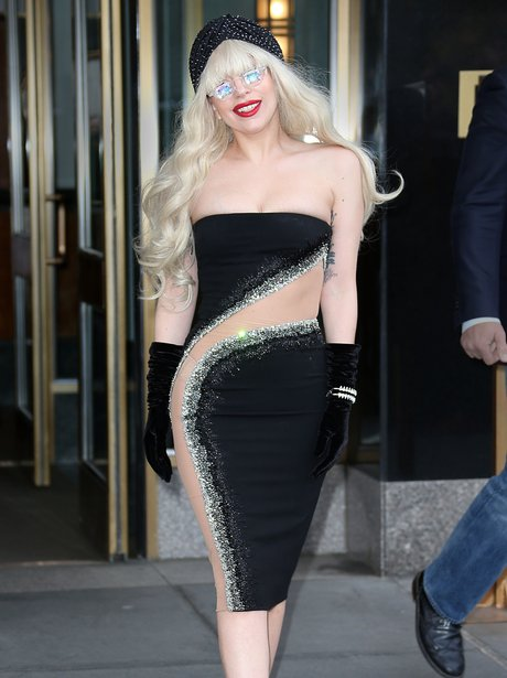 Lady Gaga in New York after SNL appearance