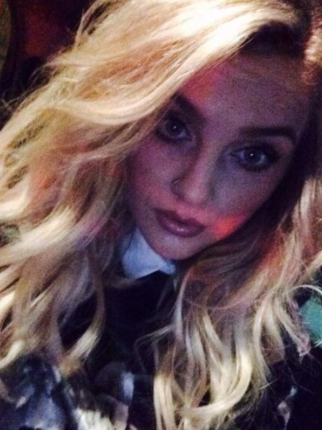 Perrie Edwards shows off her new honey hair
