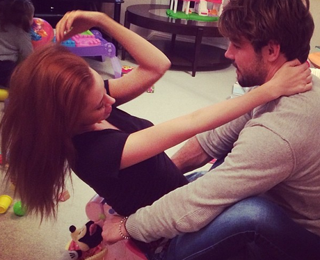 Una Healy and Ben Foden on Instagram