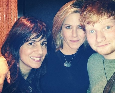 Ed Sheeran with Jennifer Aniston for Thanksgiving