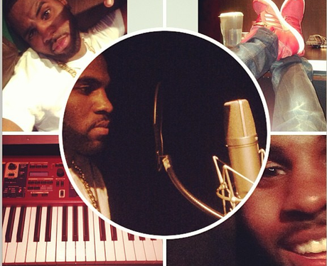 Jason Derulo in the studio