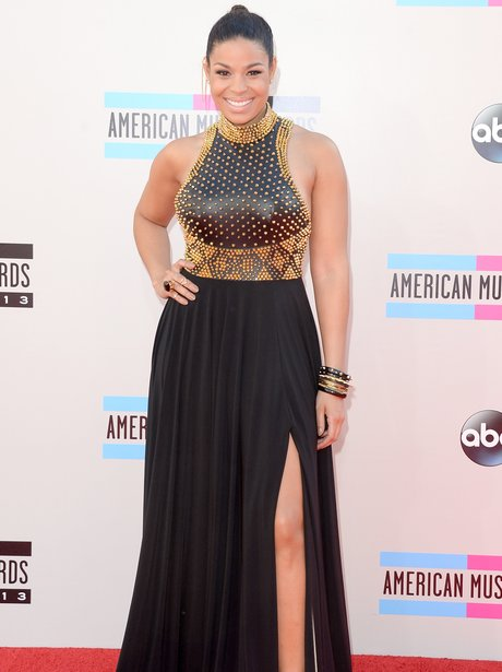 Jordin Sparks American Music Awards 2013 Red Carpet