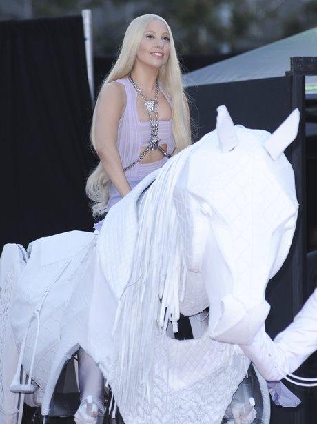Lady Gaga American Music Awards 2013 Red Carpet