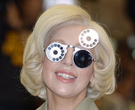 Lady Gaga wearing big glasses