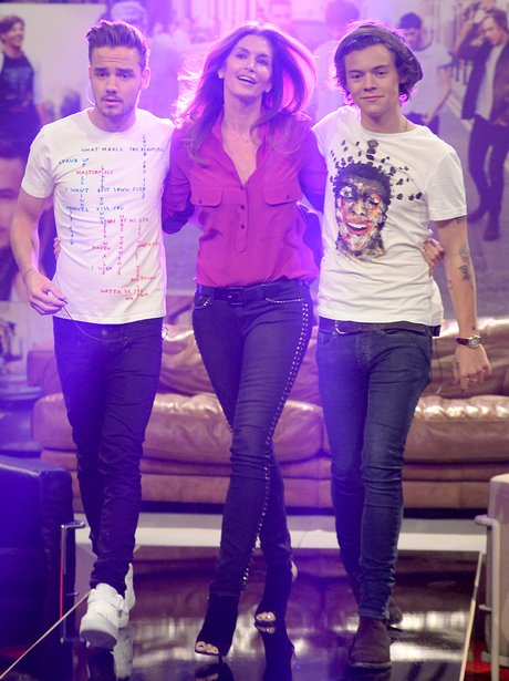 Liam Payne, Harry Styles and Cindy Crawford