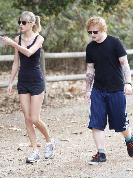 Taylor Swift and Ed Sheeran Hiking