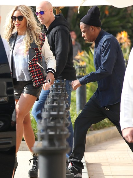 Beyonce and Jay Z in Beverly Hills
