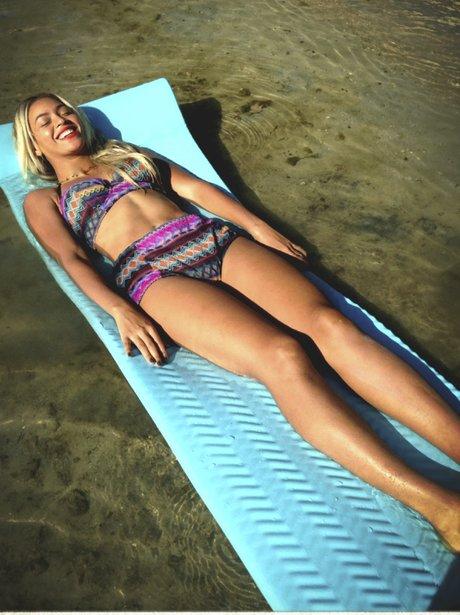 Beyonce wearing a bikini