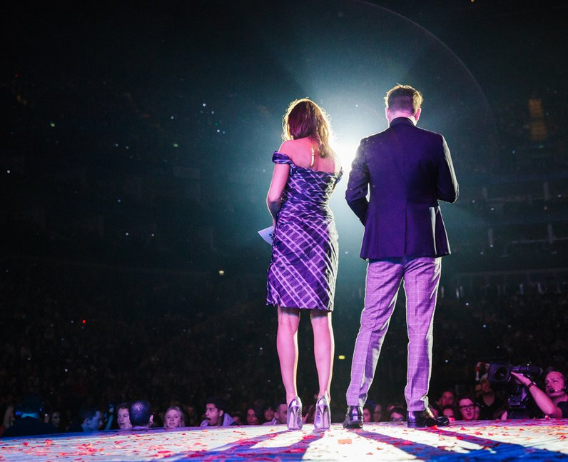 Dave Berry and Lisa Snowdon at the Jingle Bell Bal