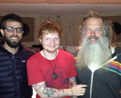 Ed Sheeran with Rick Rubin Instagram