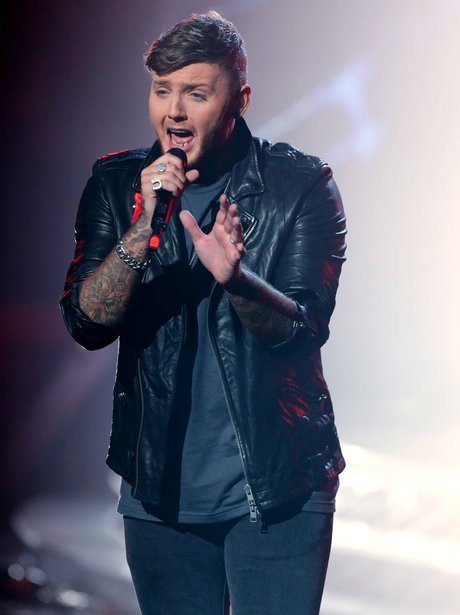 James Arthur performs on The X Factor results show