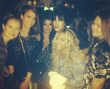 Jessica Alba and Beyonce