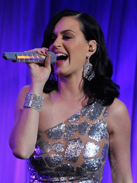 Katy Perry performing live at UNICEF's event