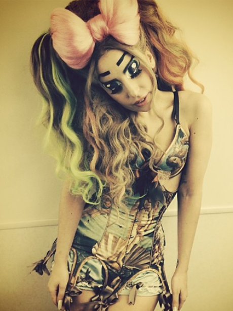 Lady Gaga dressed as a doll in Tokyo