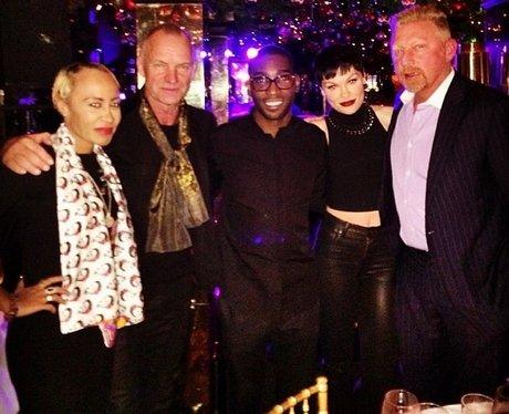Tinie Tempah And Jessie J With Sting Instagram