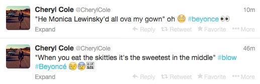 Cheryl beyonce Tweets