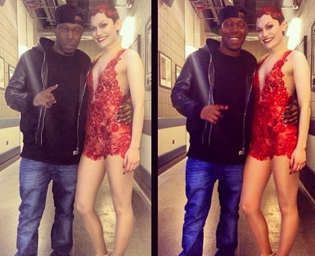 Jessie J and Dizzee Rascal Backstage Jingle Bell B