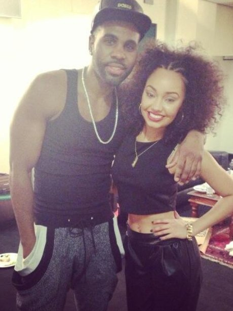 Leigh-Anne Pinnock and Jason Derulo at Jingle Bell Ball