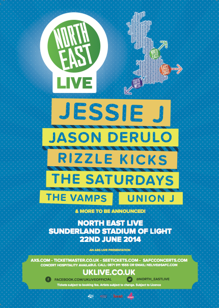 North East Live Flyer 2014