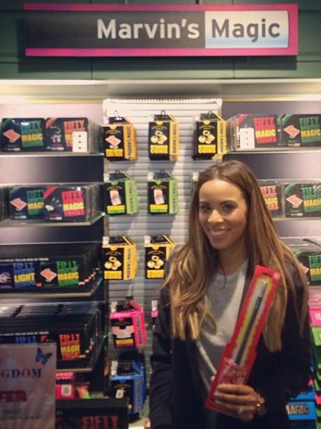 Rochelle Wiseman in a hardware store