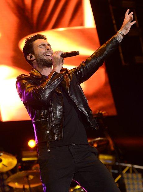 Adam Levine on stage