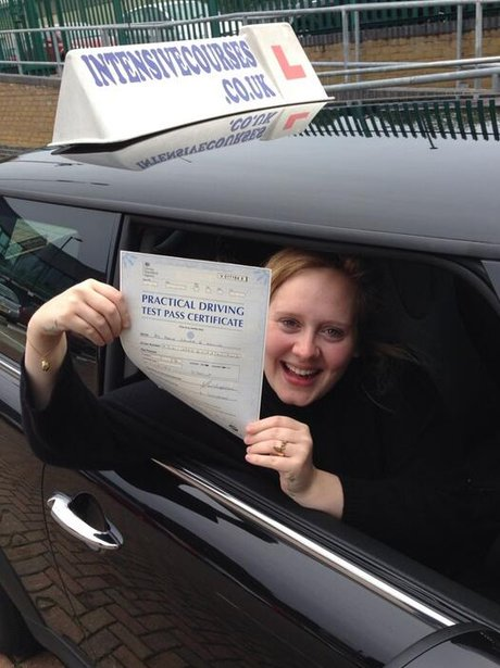 Adele passes driving test