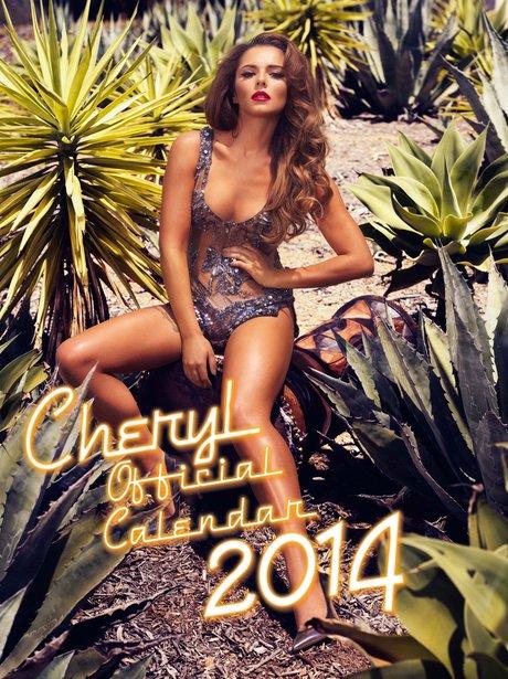 Cheryl Cole's 2014 calendar cover