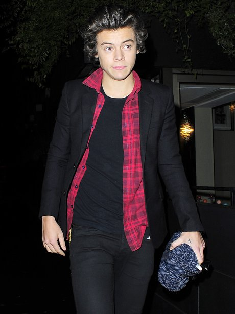 Harry Styles arrives at Kendall Jenner's hotel
