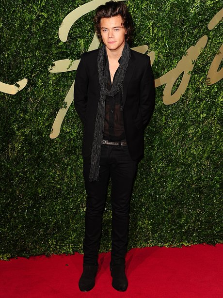 Harry Styles British Fashion Awards 2013