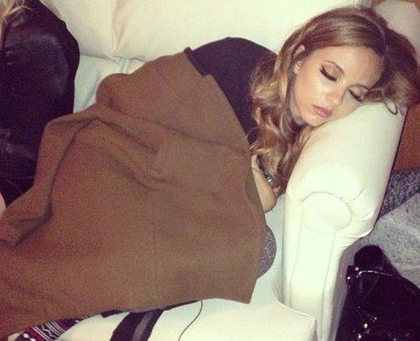 Jade Thirlwall taking a nap
