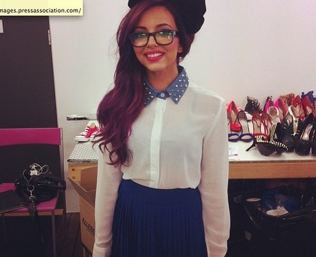 Jade Thirlwall wearing a bow in her hair