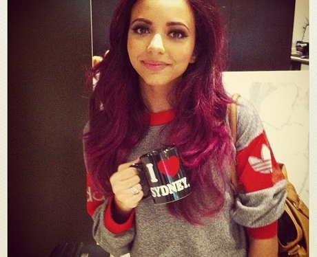 Jade Thirlwall with pink hair