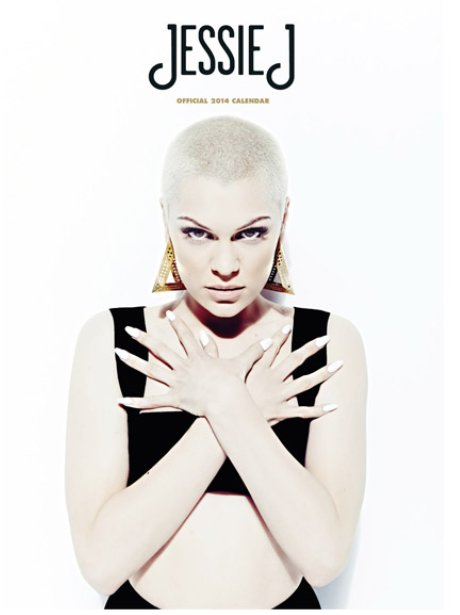 Jessie J's 2014 calendar cover