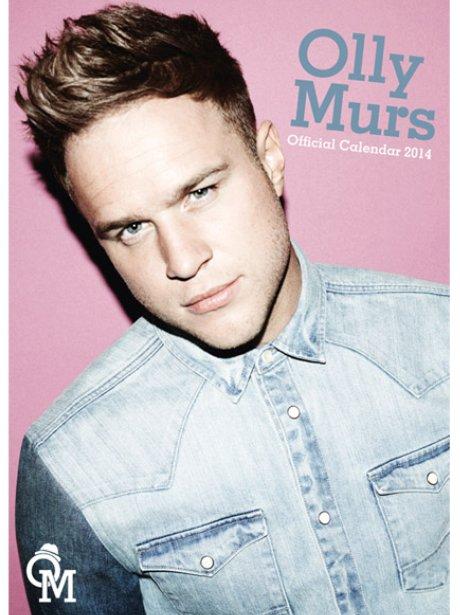Olly Murs' 2014 calendar cover