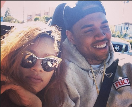 Rihanna and Chris Brown Selfie