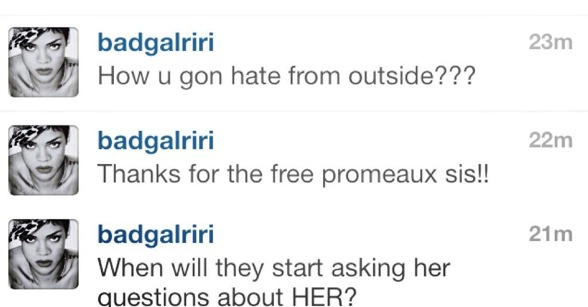 rihanna ciara instagram comments