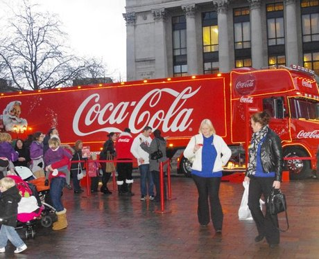 The Coca Cola Truck comes to Portsmouth
