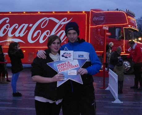 The Coca Cola Truck comes to Southampton