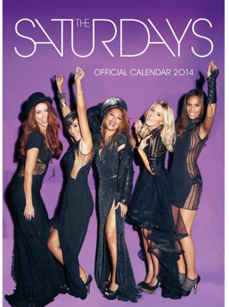 The Saturdays' 2014 calendar cover