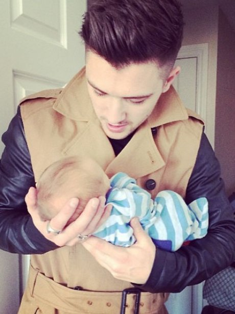Union J JJ Hamblett with baby