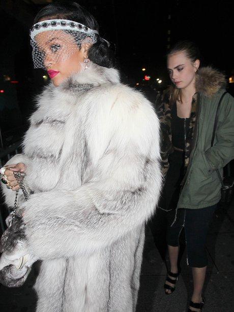 Rihanna and Cara Delevingne celebrate New Years