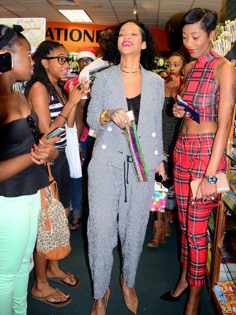 Rihanna out shopping in Barbados