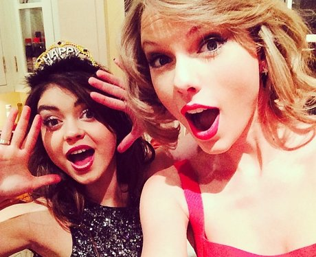 Taylor Swift and friend Sarah Hyland