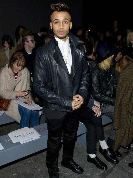 Aston Merrygold at a fashion show