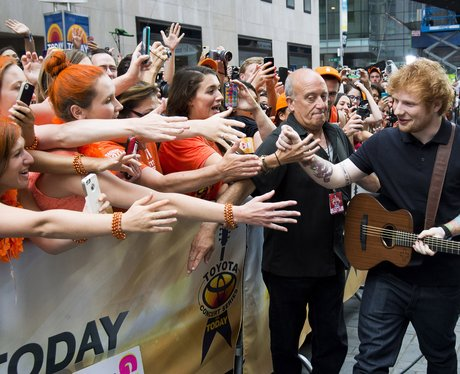 Ed Sheeran and Fans