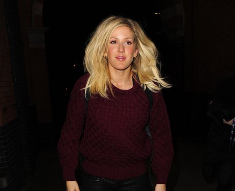 Ellie Goulding wearing a big jumper