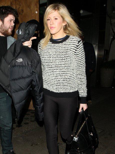 Ellie Goulding goes out for dinner