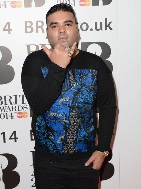 Naughty Boy at the BRIT Award 2014 nominations party