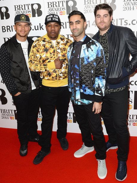 Rudimental at the BRIT Award 2014 nominations party